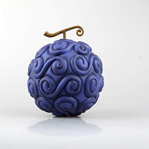 QTRT UNA Pieza Regalos Fruta del Diablo Luffy Goma de Frutas Burning Fruta del Demonio Fruta Hecha a Mano de PVC Animado Modelo Estatua Figura de Juguete coleccionables Decoraciones ( Color : A )