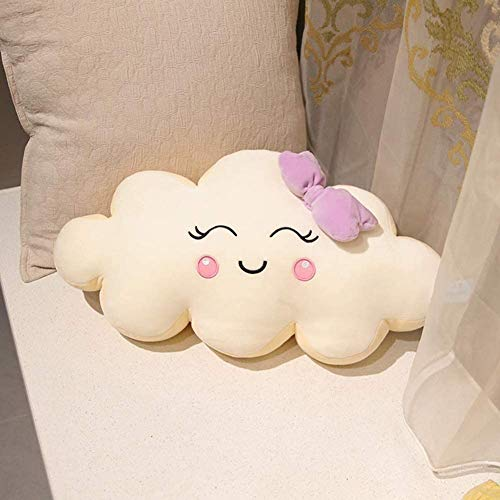 JIAL Cloud Cartoon Kissenbürste Nizza Wolken Form Kissen Kissen Kissen Kissen Kissen Kissen Kissen (Farbe: Blau, Größe: Medium), Größe: groß, Farbname: Blau (Farbe: blau) Chongxiang (Color : Beige)