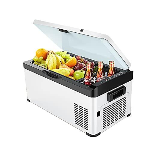 JUNKUN Refrigerador de Viaje, refrigerador eléctrico, refrigerador Grande, refrigerador portátil de 12/24 V, congelador para automóvil, 32 Cuartos (30 l)