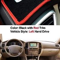 車のダッシュボードカバーにトヨタランドクルーザーLC100 2003 2004 2005 2006 2007 2002のダッシュボードダッシュマットパッドカーペットカバーサンシェイド (Color Name : Gray)