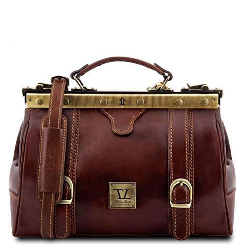 Tuscany Leather Monalisa Maulbügel - Arzttasche aus Leder Braun
