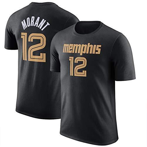 WQWY Morant 12# Jersey Camiseta, Grizzlies de Hombres 2020/21 de la Ciudad Edición de la Ciudad Nombre y número T-Shirt Performance Manga Corta Hip Hop Ropa para Fiestas L