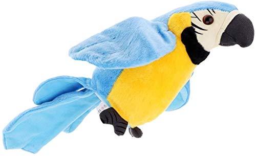 Talking Parrot Pluchen speelgoed Repeat What You Say Funny Kids Knuffels Dierlijke Colorful - Rood, zoals beschreven, Size Name: zoals beschreven, Kleur Naam: Blauw