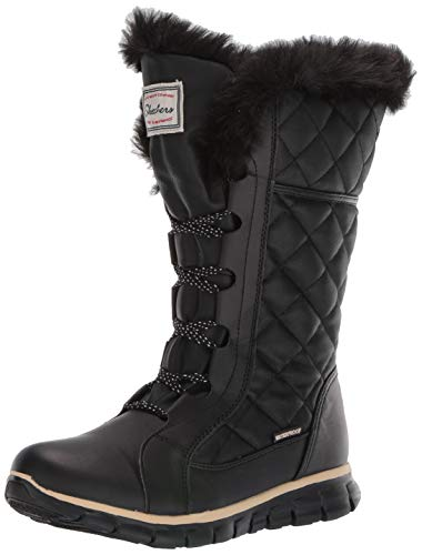 Skechers womens Synergy - Real Estate Snow Boot, Black, 5 US
