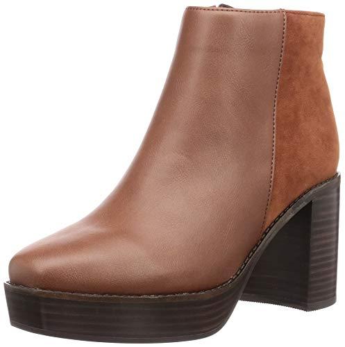 [オリエンタルトラフィック] ブーツ レディース スクエアトゥ 厚底 美脚 大きいサイズ 小さいサイズ 歩きやすい 1418 BROWN 24.0 cm~24.5 cm E