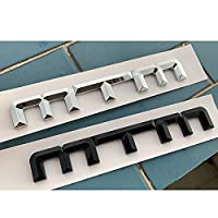 BBYT MTM ABSエンブレムカースタイリングA A4L A3 A5 A5 A6LのためのトランクのロゴバッジステッカーがゴルフCC Chrome光沢のある黒 (Style : Glossy black)