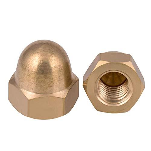 Messing Cap Sechskantmuttern Dekorative Dome-Kopf-Abdeckung Halbkreis Hutmutter M12 (2ST)