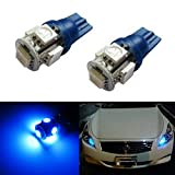 iJDMTOY Ultra Blue 5-SMD 168 194 2825 T10 LED Replacement Bulbs For Car Parking Position Light Upgrade