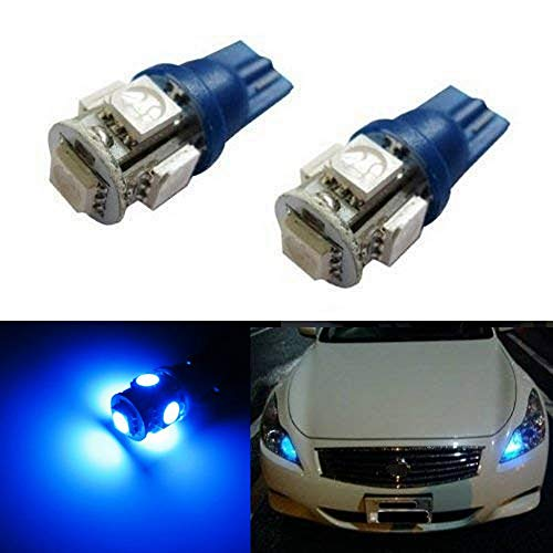 iJDMTOY 5-SMD 168 194 2825 T10 LED Parking Position Light Bulbs, Ultra Blue