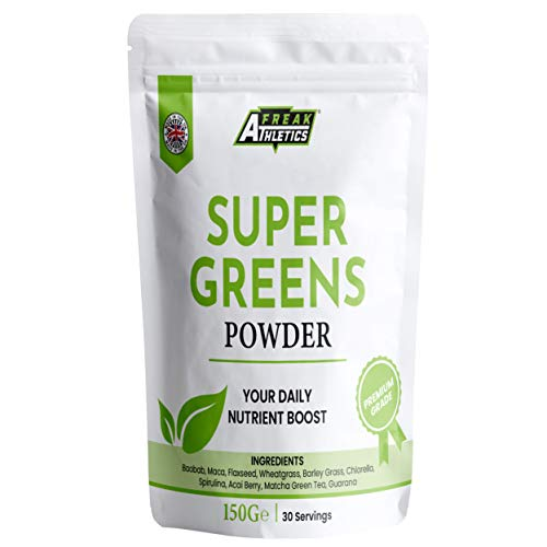 Super Greens Powder by Freak Athletics - UK Made - Amazing Value - Your Daily Nutrient Boost