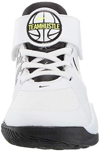 Nike Team Hustle D 9 (PS), Basketball Shoe, Blanca, 28 EU