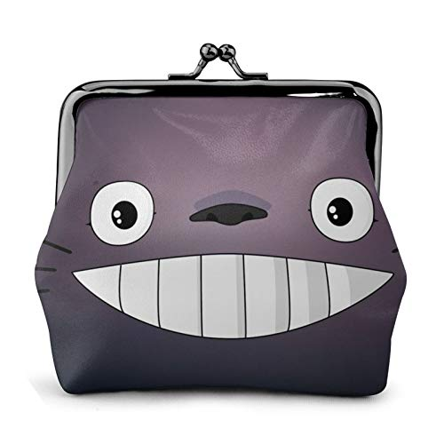 Porte-monnaie Mon voisin Totoro avec visage de dessin animé et un verrou en trois dimensions exquis qui peut contenir la clé, la monnaie, la carte de crédit pour femme