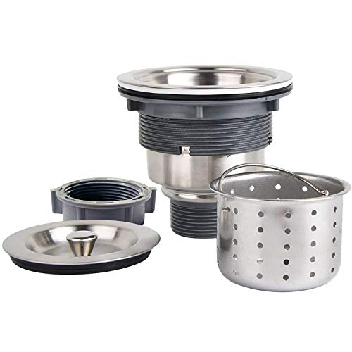 Product Image of the KONE Garbage G231 3-1/2-inch Kitchen Sink Drain Removable Deep Waste Basket/Strainer Assembly/Sealing Lid, Stainless Steel