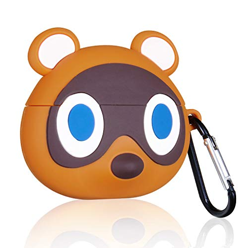 Lupct Cartoon Case for AirPod Pro 3rd Cover Cases Cute Funny Fashion Cool Design for Boys Teen Girls Girly Kids Fun Unique Character 3D Animal Kawaii Pretty for AirPods Air Pods Pro (Brown Raccoon)