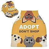 Sinestour Adopt Don't Shop - Fundas de asiento de coche para bebé, fundas para cochecito de lactancia y lactancia, toldo...