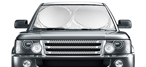 Car Windshield Sunshade Jumbo (63' x 35') for Car Truck SUV - UV Protector Shields Auto & Keeps Vehicle Cooler - Easy to Use Large Pop up Sun Shade
