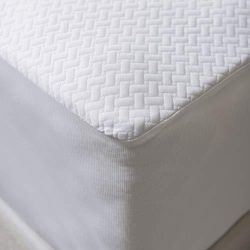 Funda para Colchón, Impermeable Respirable Cobertor con Borde Elastizado, 140 cm x 200 cm