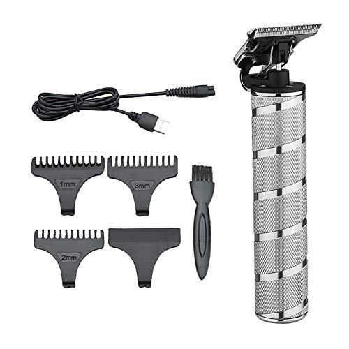 Seraphicar Juego de cortapelos profesional, juego de cortapelos en T para el pelo eléctrico, con peine guía y cepillo de limpieza y otros para el cuidado diario del cabello de Salon Men