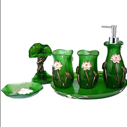 Agal Bomba de Ducha Accesorios de baño Set, 5/6 Piezas Resina baño...