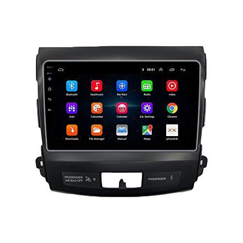 ZERTRAN Estéreo De Automóvil Reproductor Multimedia DVD Android 9.1 Octa Core Ocho Núcleos RAM 4G ROM 64G Navegacion GPS por Mitsubishi Outlander 2007 2008 2009 2010 2011 2012