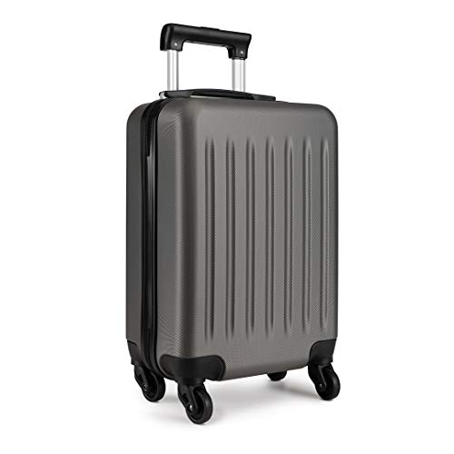 "Kono Light Weight Medium 24"" Hard Shell Suitcase 4 Spinner Wheels ABS Luggage Travel Trolley Case (24', Grey)"