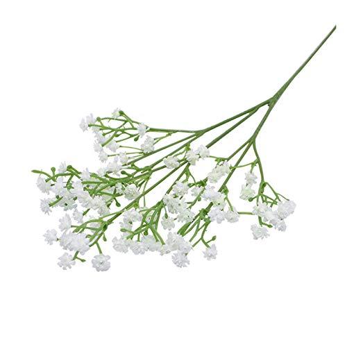 Gzjdtkj Künstliche Blumen 1-5 stücke weiße künstliche Blumen gypsophila Kunststoff Blumen für Haus dekorative DIY wed Party Dekoration gefälschte Blume (Color : F01 White Gypsophila, Size : 5Pcs)