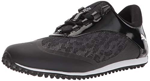 PUMA Golf Women's Summercat Sport Golf Shoe, Black/White, 6 Medium US