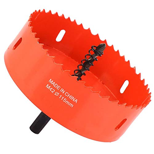 Bimetall-Lochsäge-Lochschneider-Bohrer, Lochsäge-Bohrer, für dünnes Stahlblech für weiches Metallblech für Holz(115mm)