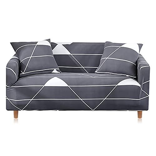 MKQB Funda de sofá elástica telescópica, Moderna Funda de sofá elástica para decoración del hogar, Funda de sofá Modular en Forma de L para Sala de Estar NO.2 L (190-230cm)