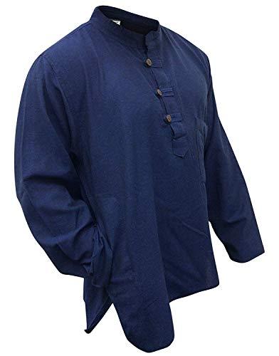 T-shirt Shopoholic Fashion léger Hippie Festival - Bleu - X-Large