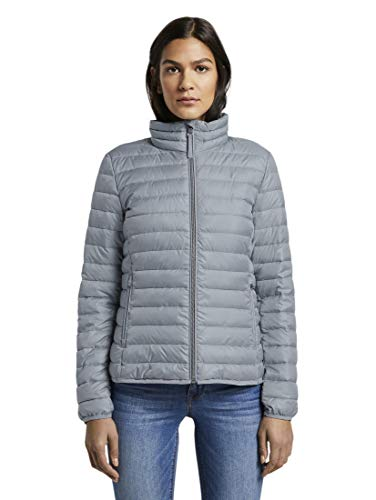 TOM TAILOR Damen Jacken Leichte wattierte Steppjacke Strut Grey,M