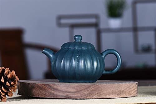 Teapot Ore Republic Tendons Green Clay Pot Teapot Pattern Pan Hand-Tea Tea Sets (Color : Green mud)