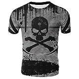 Camiseta De Terror para Hombre, Tops De Moda De Verano, Camiseta con Calavera En 3D, Talla Grande, Ropa De Calle-Dieciséis_XXS