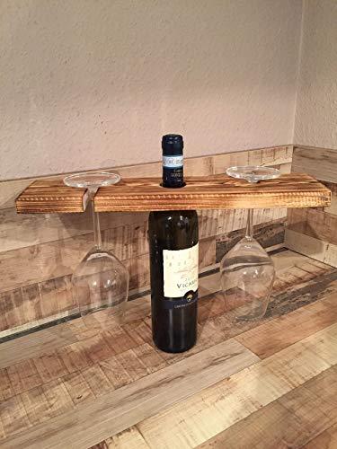 """Palettenöbel Weinflaschenhalter """"Tarent"""" Weinregal aus Europaletten Dekor Accessoires"""