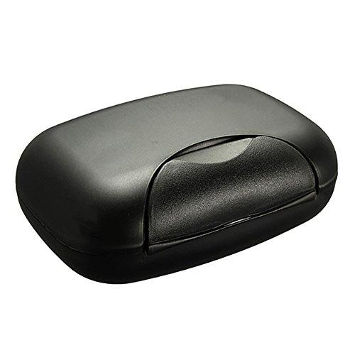 Seifenschale für Reisen, Seife und Behälter, Versiegelt und herausnehmbar für Bag, Wandern, Reisen, Camping, etc., Schwarz