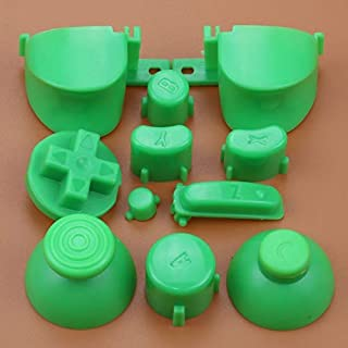 Full Sets A B X Y Z Buttons Direction Key D-pad Mod Button for Gamecube NGC Controller (Green)