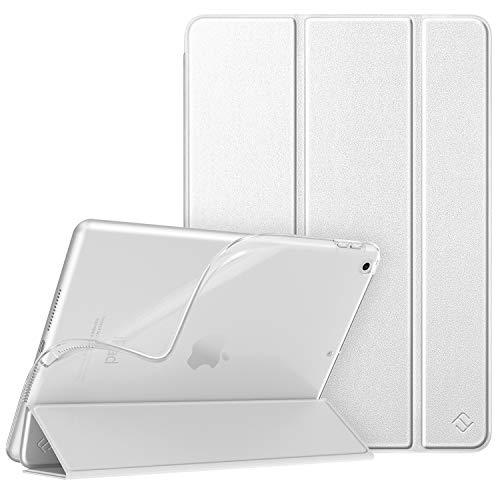 Fintie Hülle für neu iPad 10.2 Zoll 2020/2019 (8. & 7. Generation) - Superdünn Schutzhülle mit weiche TPU durchsichtiger Rückseite Abdeckung, Auto Sleep/Wake, Silber