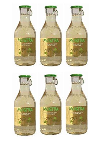 6x Mostra Weißwein trocken je 500ml 12,5% Vol Tsililis Weiß Wein aus Griechenland + 10ml Olivenöl zum testen
