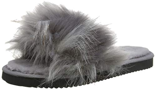 flip*flop Damen Hairy Pool Hausschuhe, steel, 41 EU