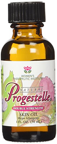 Progestelle Progesterone Skin Oil Purer Than Progesterone Cream for Women, Bioidentical, Natural - NO Fragrance, NO Preservatives, and Booklet- 1oz, 800 mg/oz Double Strength