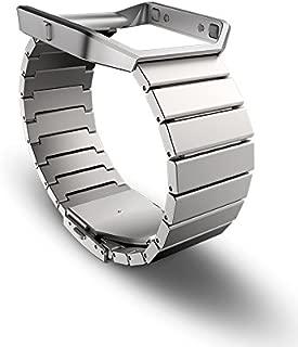 Fitbit Blaze Accessory Band, Metal, Silver, Standard