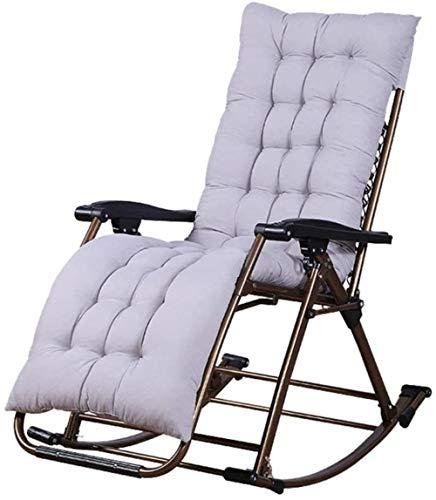 Sillas for Adultos for Adultos Plegable Mecedora Ocio Ocio Mecedora balcón Ocio reclinable cómodo...