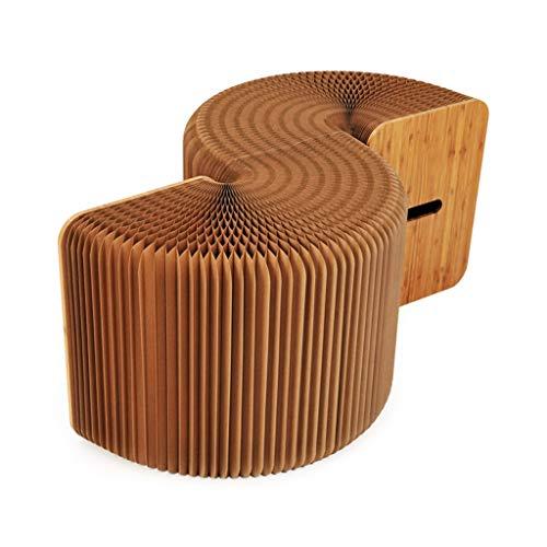Sillas Plegables Mesa de Comedor Plegable Taburete Nordic Fashion Creative Telescopic Home...