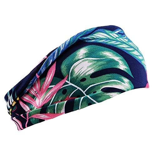 PPLAX Yoga Stirnband Gedruckte Frauenweite elastische Stretch-Stirnband Yoga-Stirnband Laufende Fitness-Sport-Kopftuch-Sportzubehör (Color : 4)