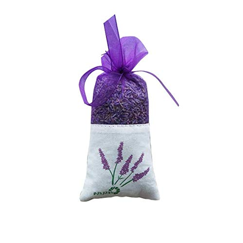 Taslon Lavender Sachets for Drawers and Closets, Beautiful Color with Fresh and Elegant Lavender Aroma, Dried Lavender Flower Sachets for Bridal Shower Favor or Party,1 Pack