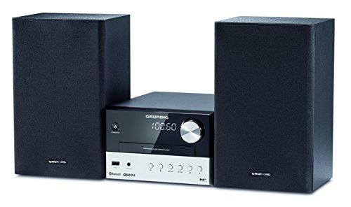 Grundig CMS 1050 DAB+ BT Kompakt Micro Anlage (Bluetooth, CD-MP3-Wiedergabe, USB Anschluss) schwarz/silber