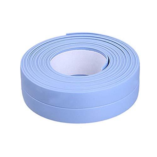 Tings Badkamer Douchebak Bad Afdichtstrip Tape Wit PVC Zelfklevende Waterdichte Muursticker voor Badkamer Keuken, 12,3.2m