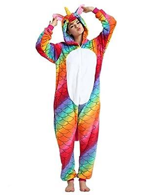 Kenmont Unicornio Pijamas Unisexo Adulto Cartoon Animal Novedad Navidad Pijama Cosplay Disfraces (Size L, Sirena)