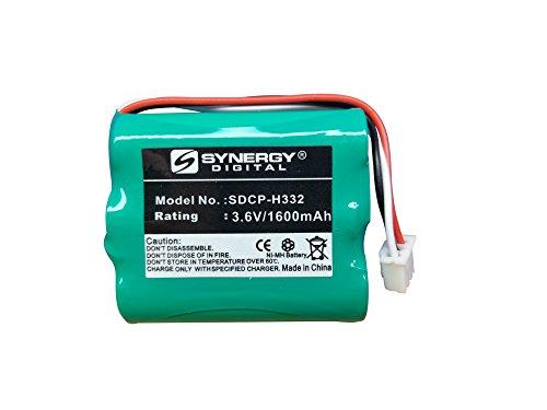 Synergy Digital Cordless Phone Battery, Works with Huawei BTR2260B Cordless Phone, (Ni-MH, 3.6V, 1600 mAh) Ultra Hi-Capacity Battery