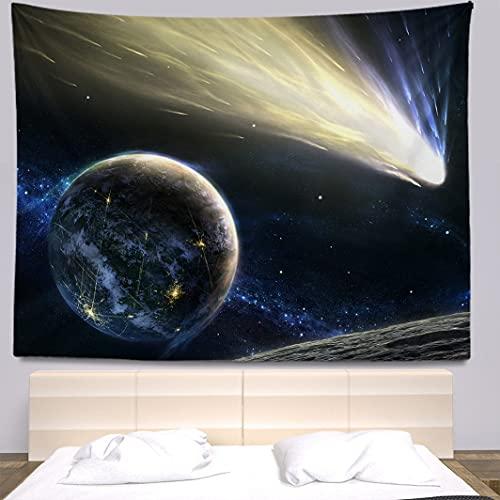 MJIHY tapizNebula Planet Tapiz Colgante de Pared Bohemia Hippie Dormitorio Decoración de la habitación Paño Grande Cortina de Pared Soporte Personalización